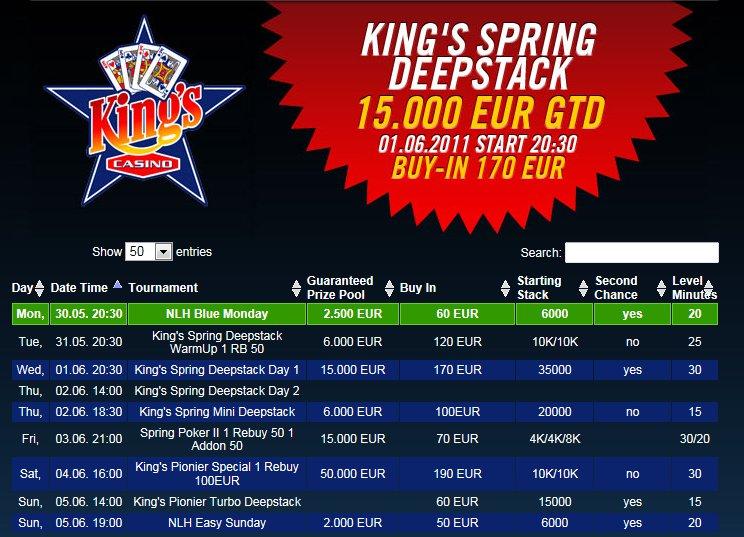 kings casino shuttle