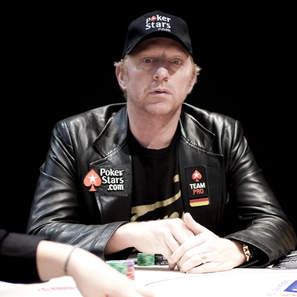 Sechsfacher Grand Slam Gewinner und Pokerstars Sports Friend Boris Becker an Tag 1 der EPT London