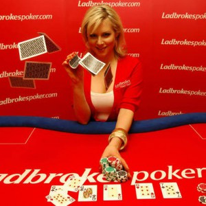 Abi Titmus Promotes Ladbrokespoker.com European Ladies Championship (ELC) at the Ladbrokes Paddington Casino in London