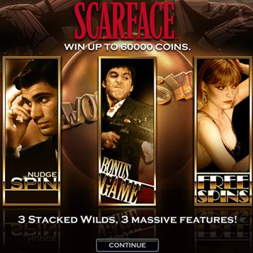 Scarface slot - spil den klassiske Gangster film slot