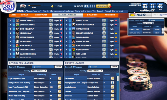 Hochgepokert Com Poker League Wer Gewinnt In Deauville