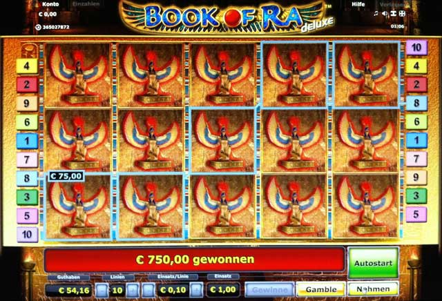 online real casino book of ra game
