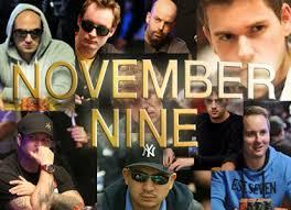 November Nine 2013