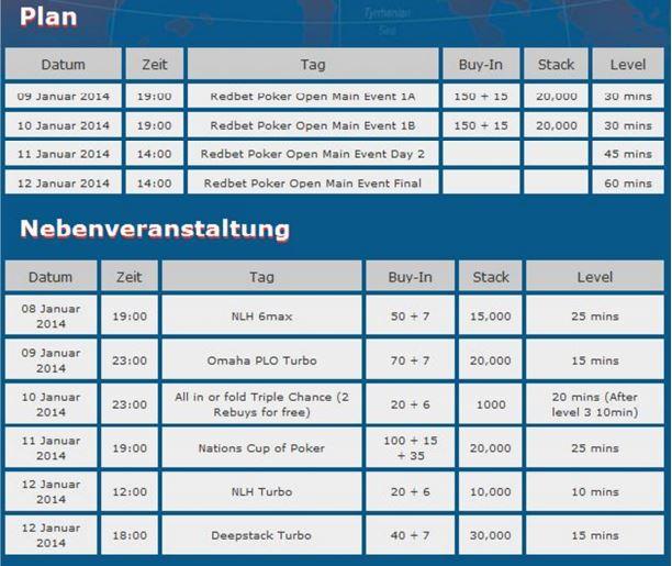 redbet open schedule