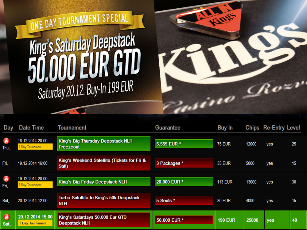 kings casino turnierplan