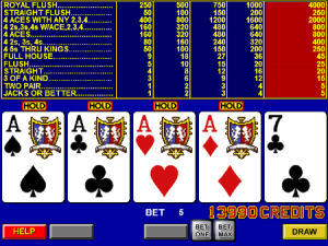 game king video poker