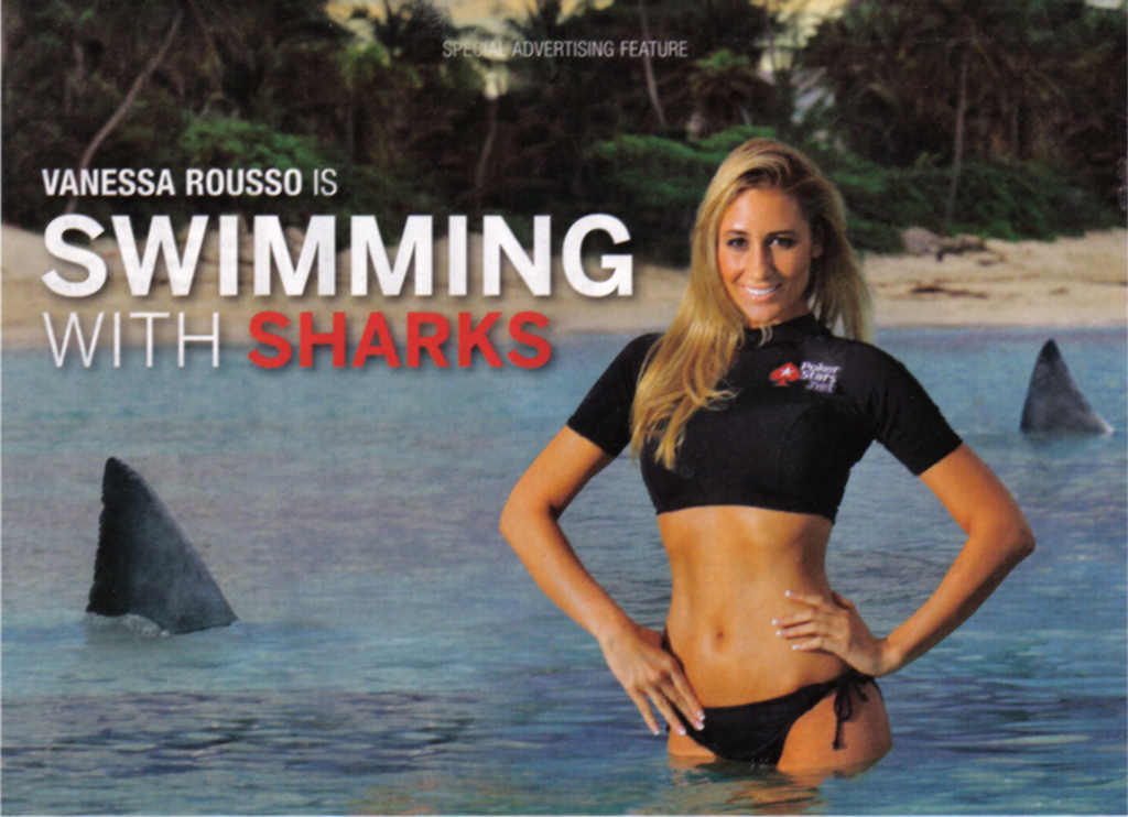 rousso swimming with the sharks