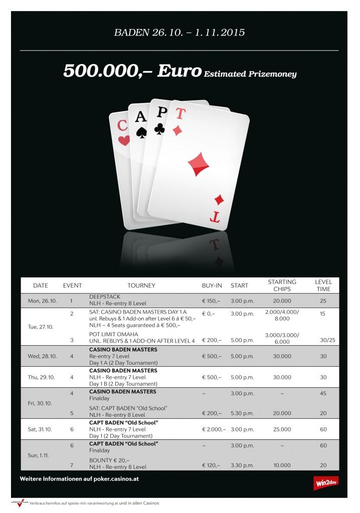 CAPT Baden Turnierplan