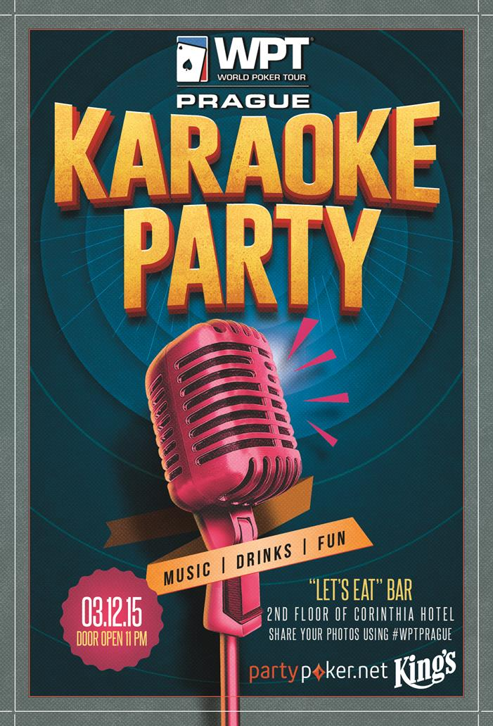 WPT Prague Karaoke Party