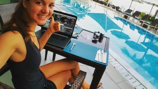 888Poker Pro Sofia Lovgren beim Sunday Grind