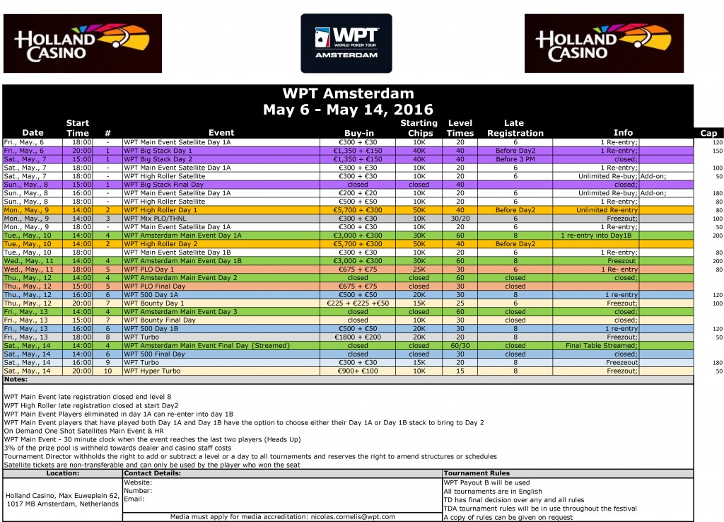 WPT-Amsterdam-2016-Tournament-Schedule