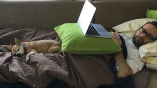 Negreanu mit seinem geliebten Hund