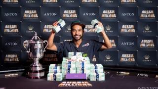 Shurane Vijayaram (AUS) gewinnt den Aussie Millions Main Event 2017