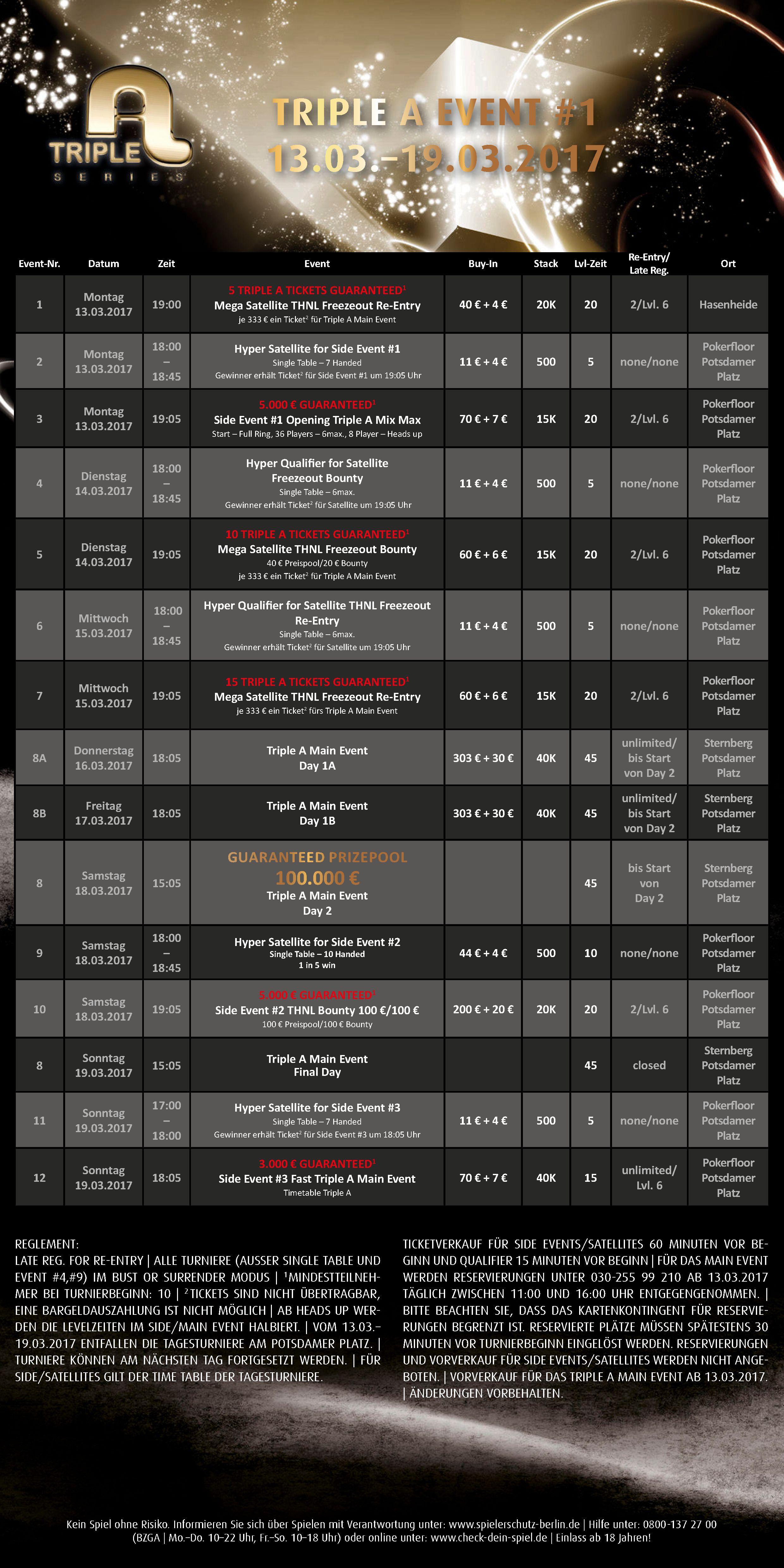 Triple A Schedule