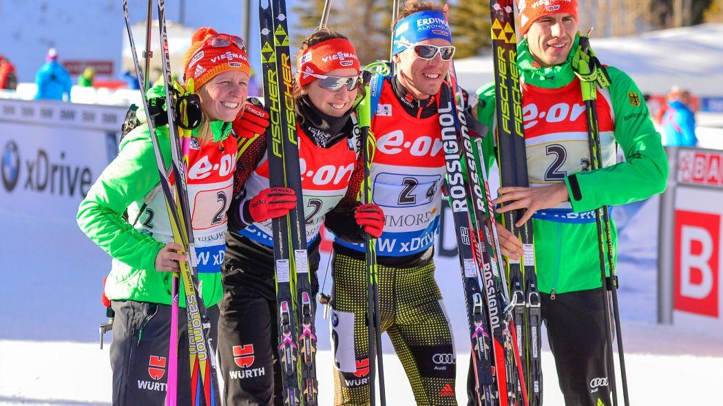 mix staffel biathlon