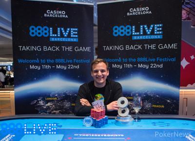 Catalin Pop Wins the 888Live Barcelona €2,200 High Roller