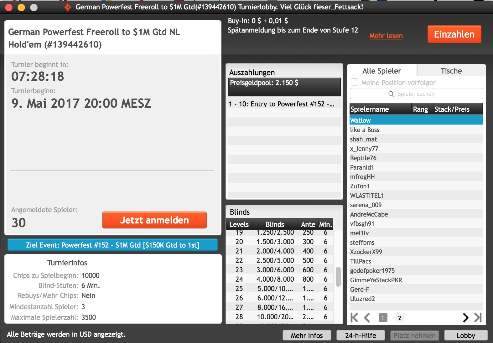 GermanPowerfestFreeroll