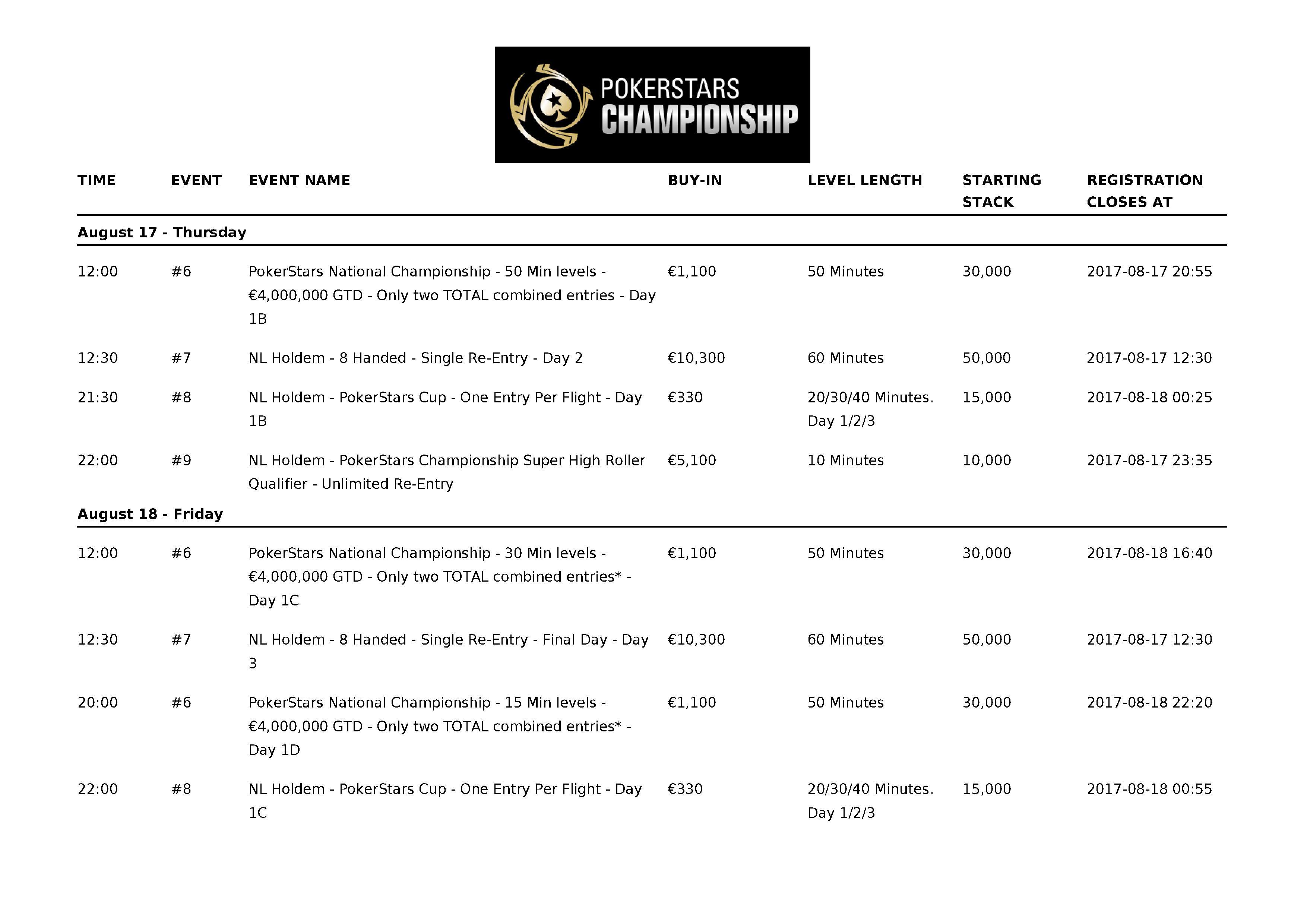 PokerStarsChampionship2017_Barcelona_Schedule_02