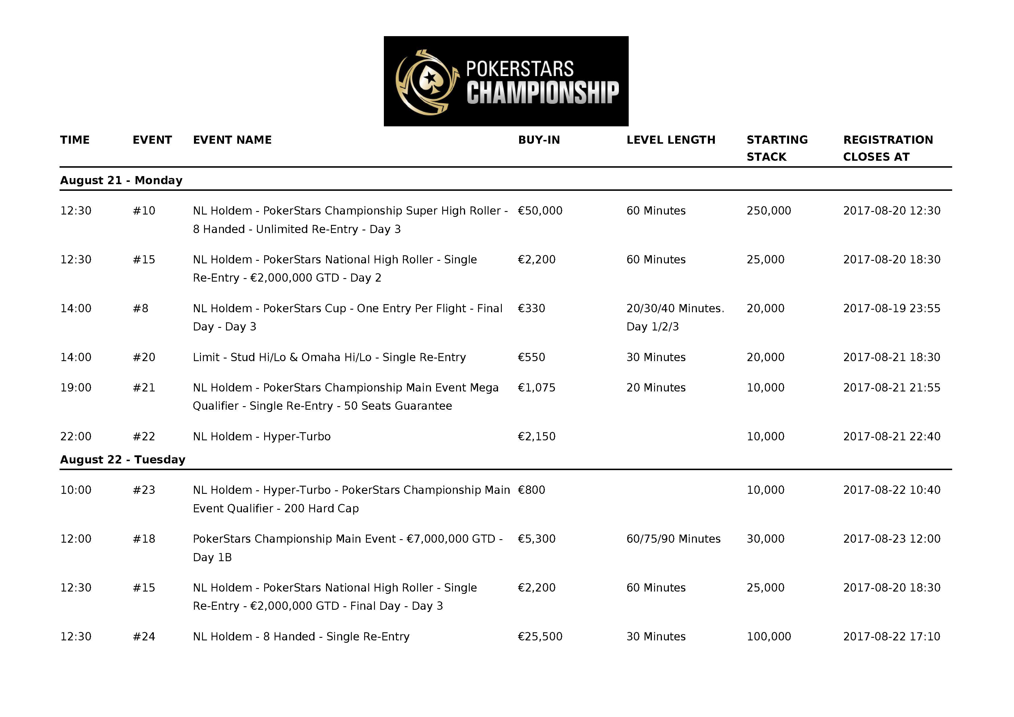 PokerStarsChampionship2017_Barcelona_Schedule_05