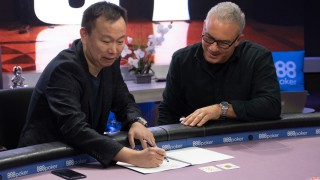DOUPAI CEO Tim Chen and Poker Central President Joe Kakaty