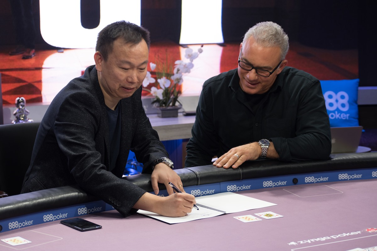 DOUPAI CEO Tim Chen and Poker Central President Joe Kakaty