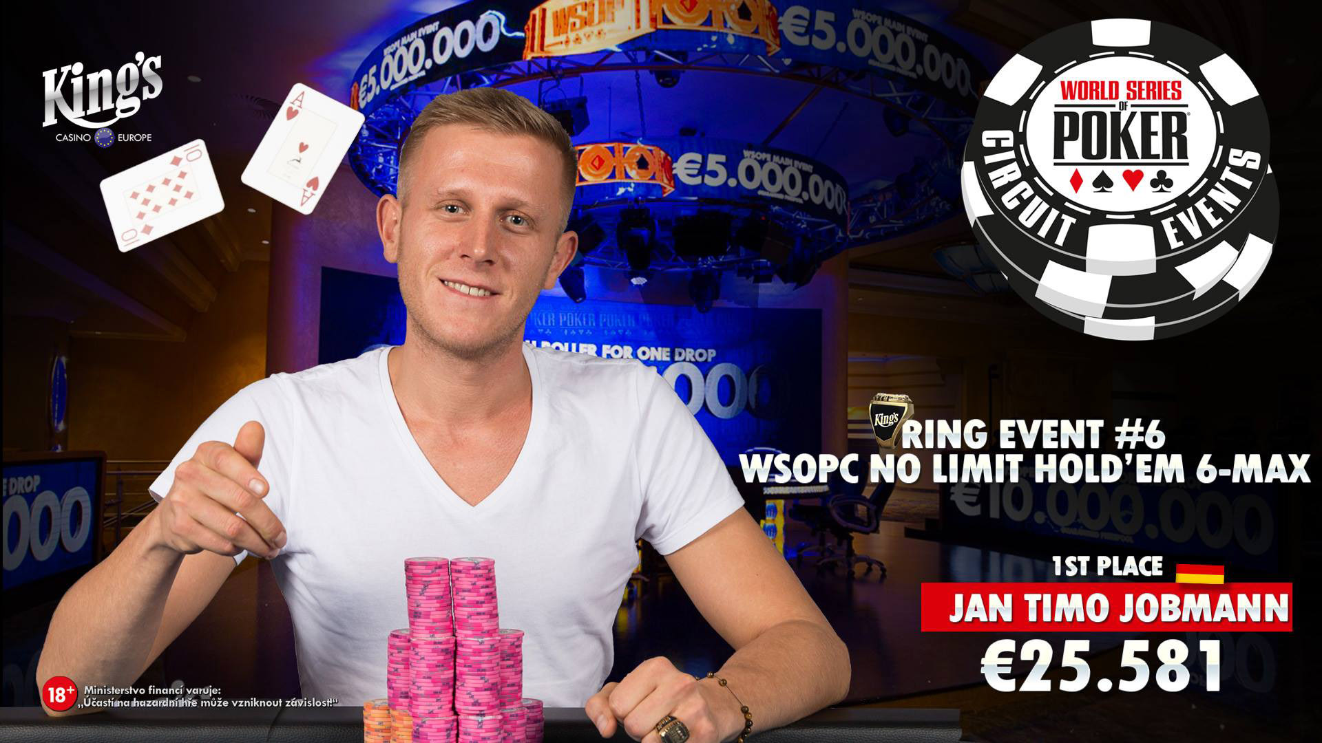 Winner WSOPC NLH 6max Timo Jobmann
