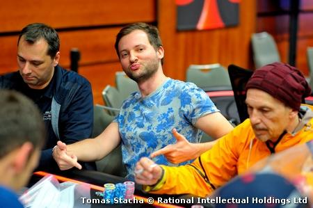 PSCH Prague 2017 Main Event day 1A Michal Mrakes chip leader