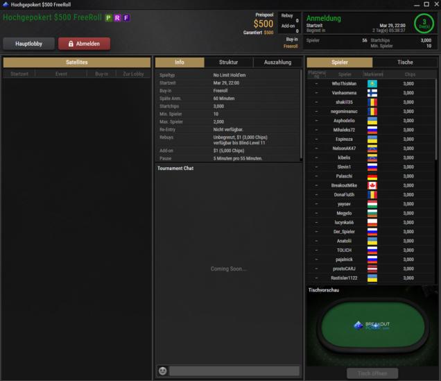 Breakout Poker HGP Freeroll