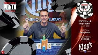WSOPC High Roller winner Pavel Binar
