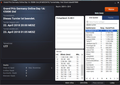 partypoker Grand Prix Germany Online Day 1a