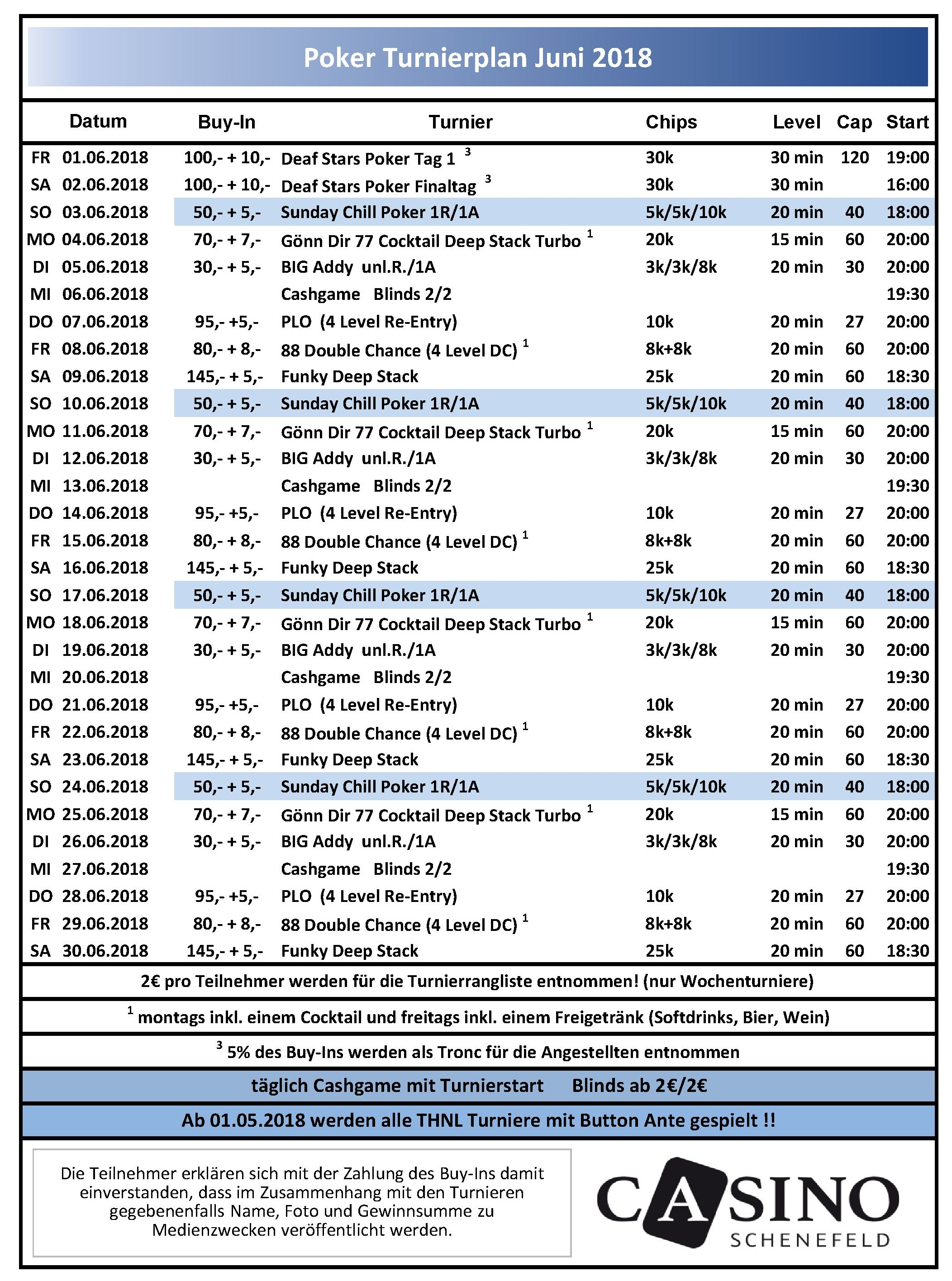Schenefeld Turnierplan Juni 2018