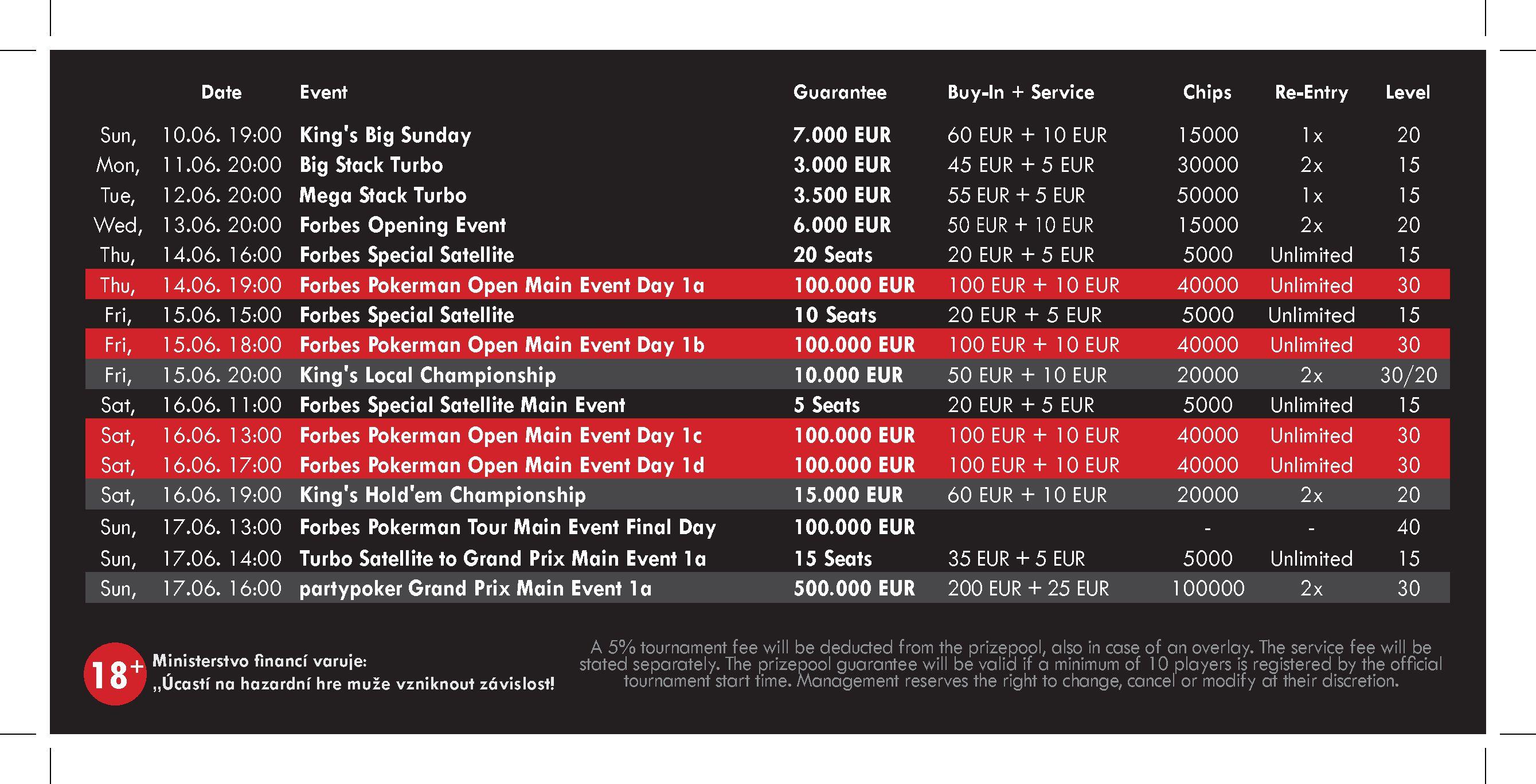 Schedule Forbes Pokerman