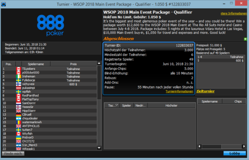 WSOP Satellite
