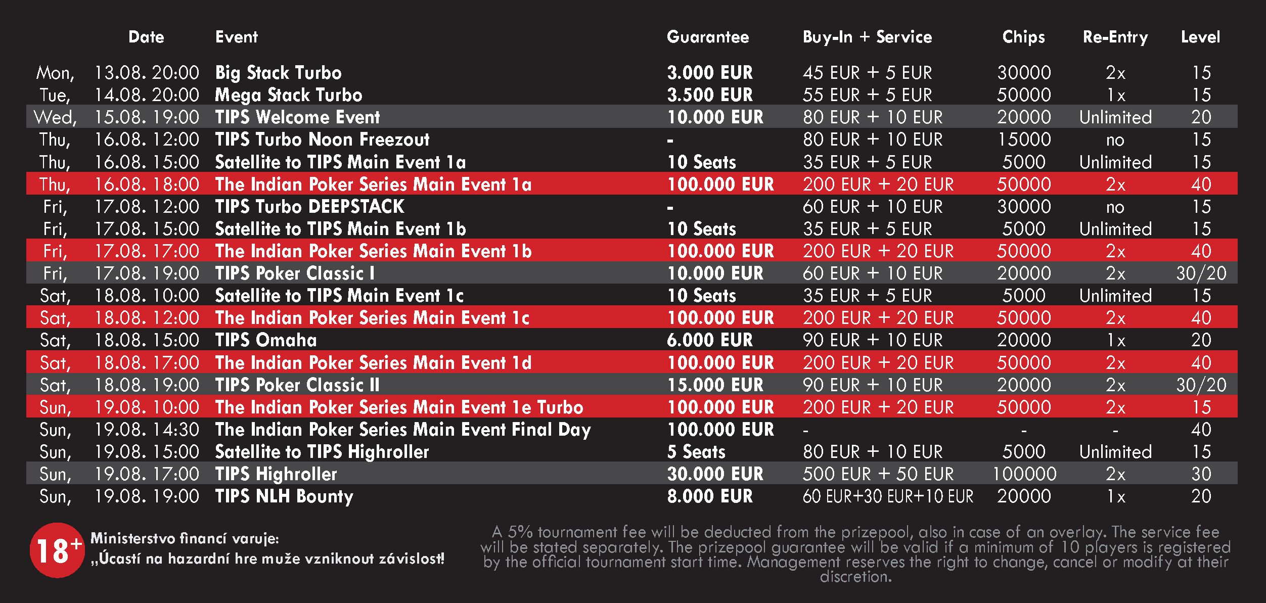 India Schedule