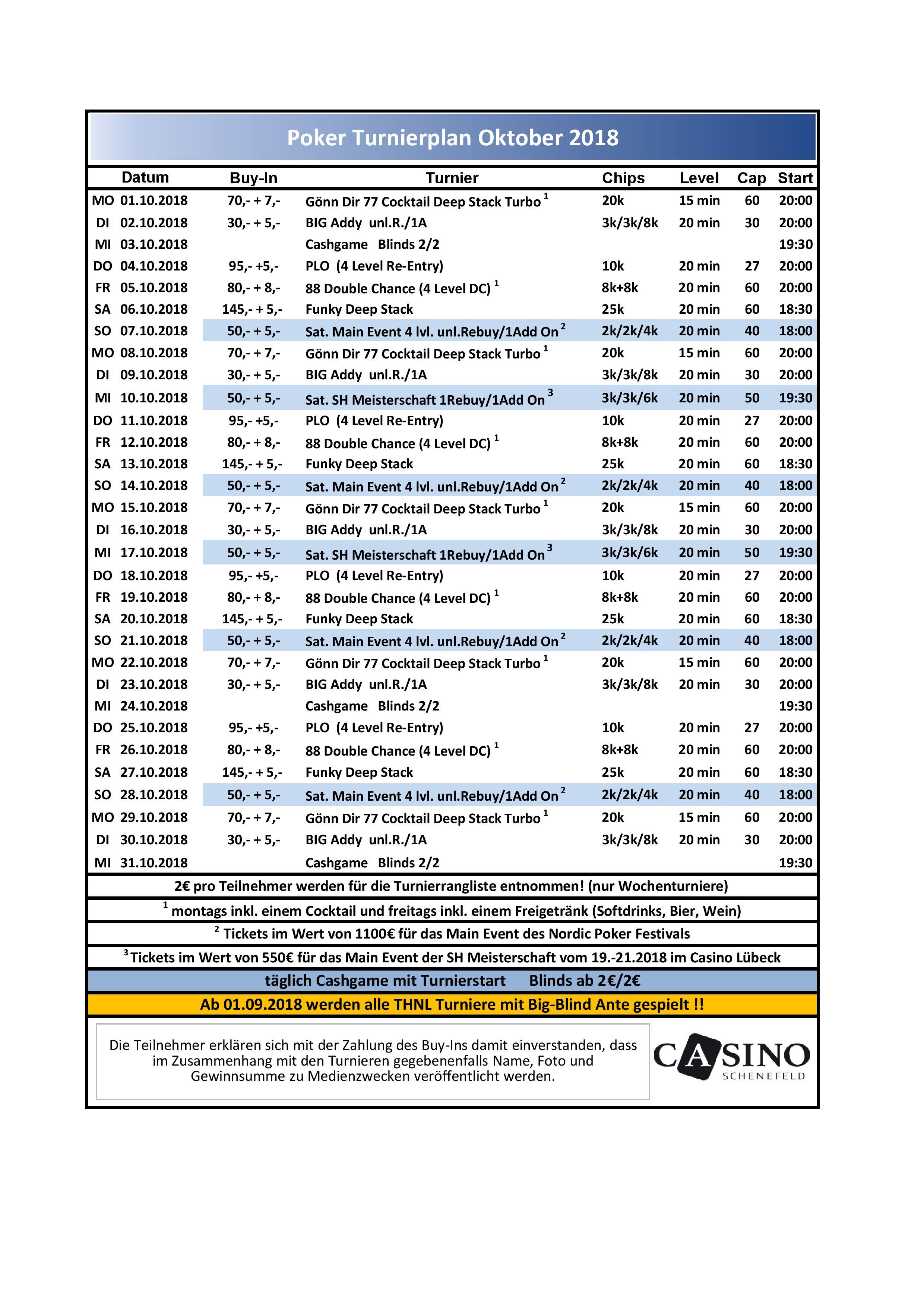 CSS Turnierplan Oktober
