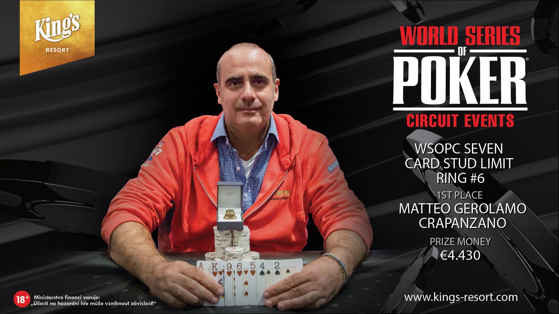 02102018winner pic WSOPC Seven Card Stud Ring #6