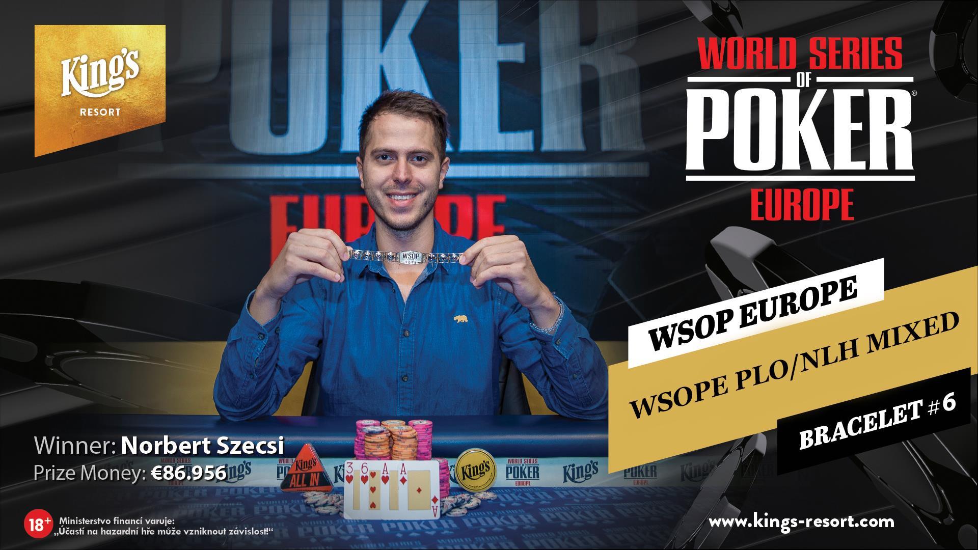 23102018winner pic WSOP Europe NLH-PLO Mixed Game Bracelet #6