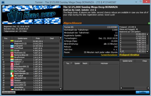 $215 Sunday Mega Deep Bonanza