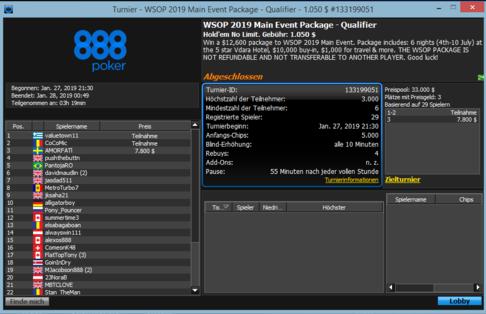 5 WSOP Qualifier
