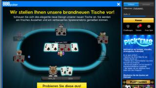 Neue Tische 888Poker