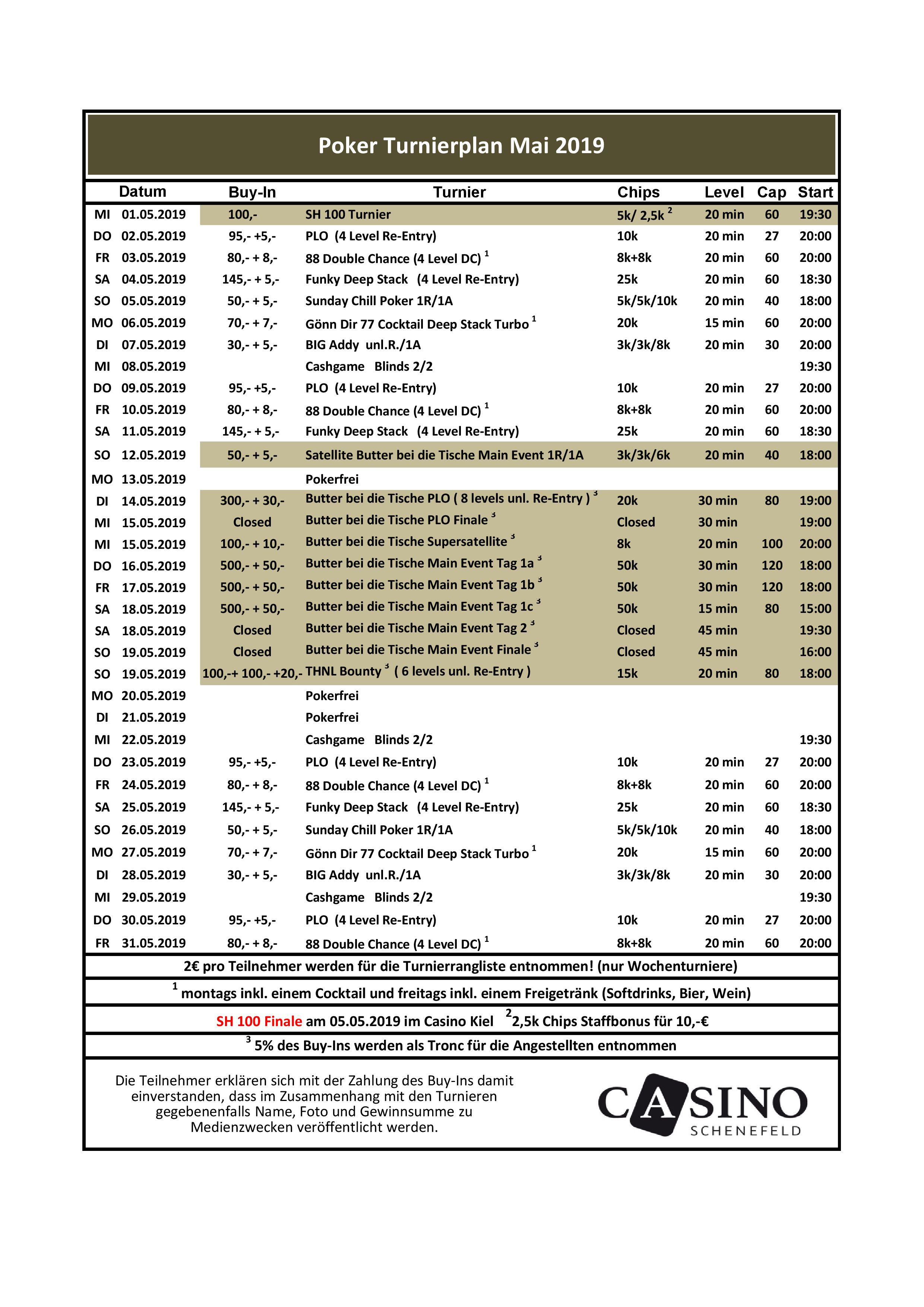 CSS Turnierplan Mai 2019II