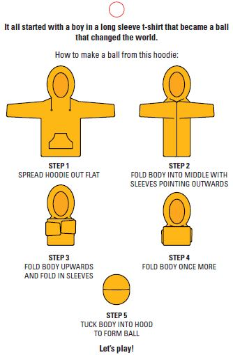 How to make the hoodie football