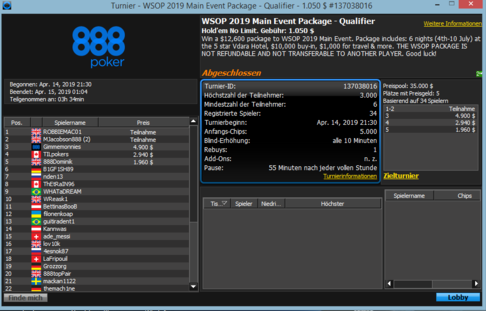 WSOP Qualifier