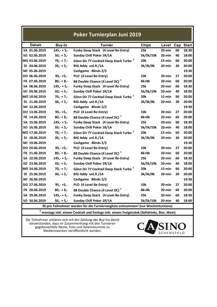 CSS Turnierplan Juni 2019