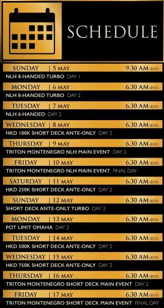 Livestream Schedule Triton
