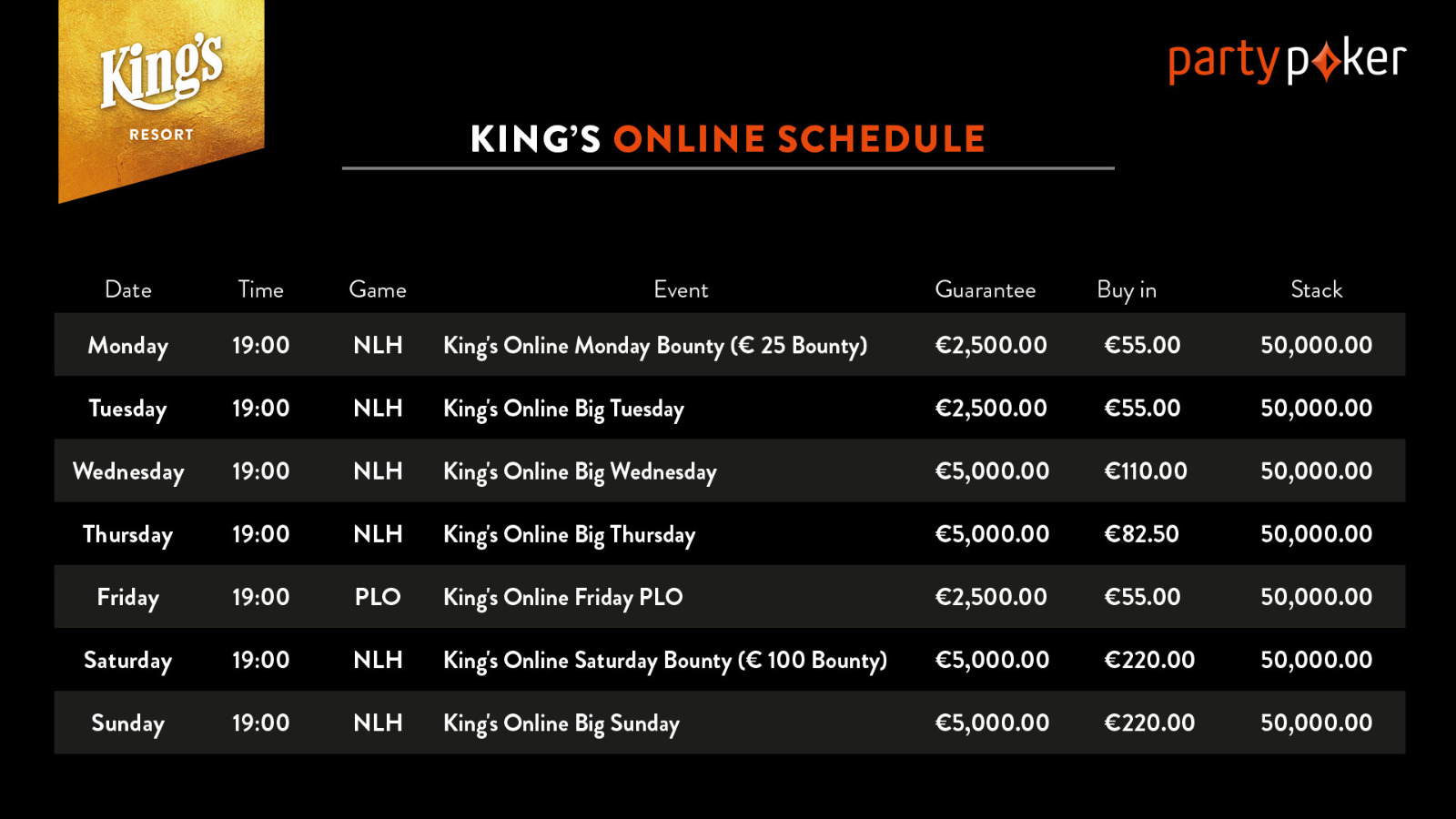 Kings Casino Turniere