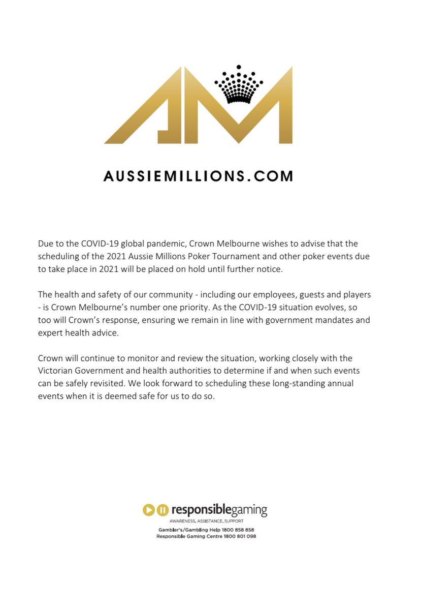 Aussie Millions 2021